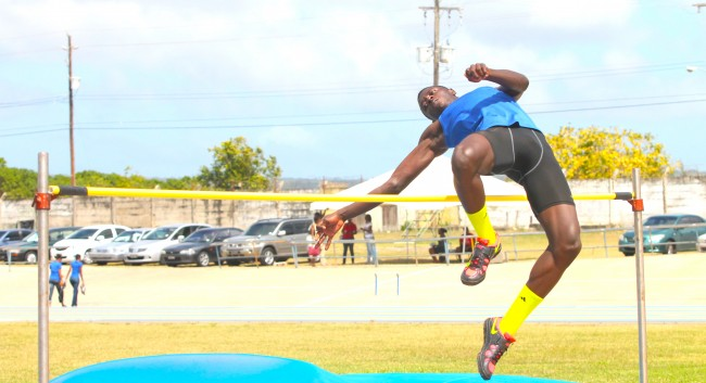 Aaron Worrell of Boadicea House broke the under 20 boys high jump.